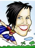 Color, Digital or Hand drawn, funny, Caricature face and body from Photo in super hero outfit, or super theme.