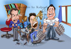 www.kalpart.com Cartoon Style Group Caricature