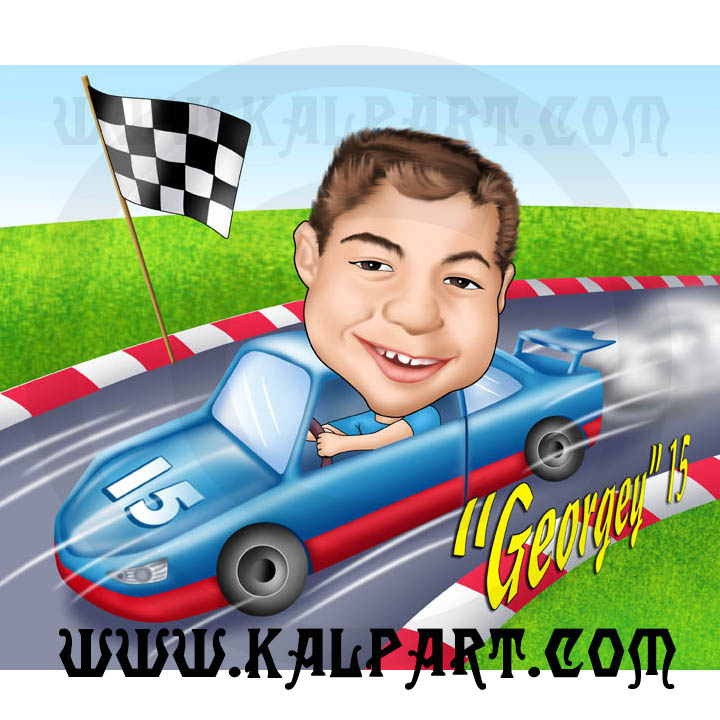 Gift Car Caricature