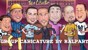 Groomsmen Group Caricature www.kalpart.com