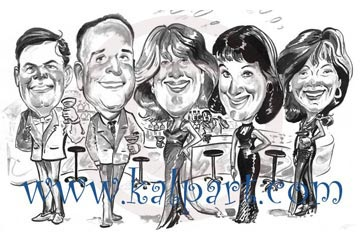 Party Group Caricatures www.kalpart.com