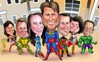 www.kalpart.com Super Heroes Group Caricature