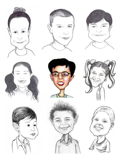 Gift Caricature (Charactures) Artwork, Drawing Cartoon/Funny Face
