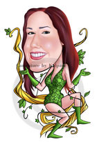 www.kalpart.com Poison Ivy caricature - illustration