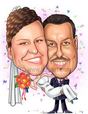 Color Wedding Caricature