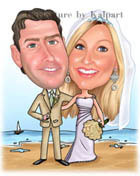 www.kalpart.com Wedding Couple Caricature