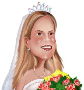 Wedding Caricature from Photo