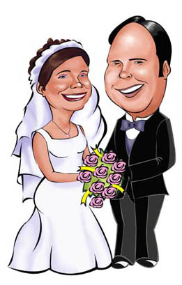 Wedding Caricatures for Less