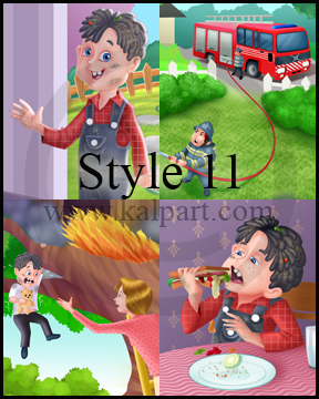www.kalpart.com Kids-Book-Illustration-Children-fireman-fire