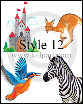 www.kalpart.com Children-Storybook-Illustrations-Kids-Castle-zebra-kangaroo-birds