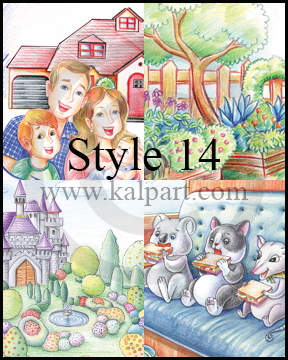 www.kalpart.com Children-Kids-Storybook-Illustration-castle-family-garden-cute-animals