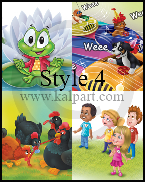 www.kalpart.com Book-Illustration-Children-Kids-frog-hen-puppy