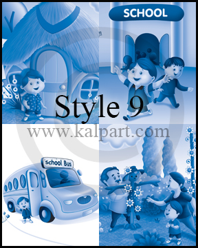 www.kalpart.com Storybook-Illustration-Kids-Children-School-bus-schooltime